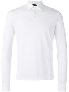 футболка-поло с длинными рукавами  Zanone