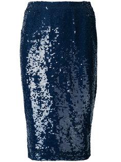 юбка-карандаш с отделкой пайетками P.A.R.O.S.H.