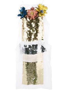 платье длины миди с отделкой пайетками Christopher Kane