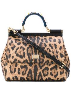 леопардовая сумка-тоут Sicily Dolce & Gabbana