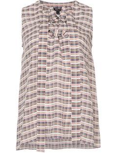 блузка без рукавов со шнуровкой  Derek Lam