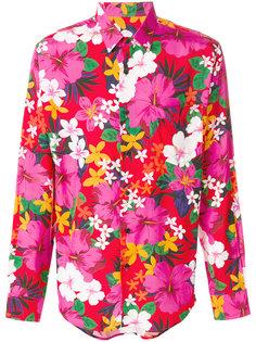 рубашка с цветочным принтом Ami Alexandre Mattiussi