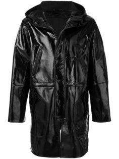 пальто с капюшоном с глянцевым эффектом Ami Alexandre Mattiussi