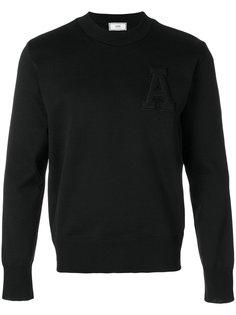 свитер с круглым вырезом с логотипом Ami Alexandre Mattiussi