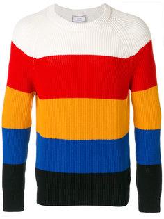 разноцветный полосатый свитер с круглым вырезом Ami Alexandre Mattiussi