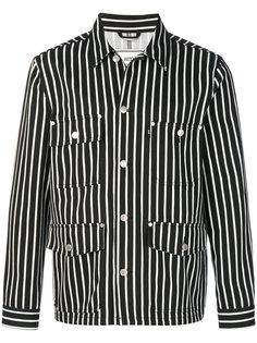 полосатая джинсовая куртка Ami Alexandre Mattiussi
