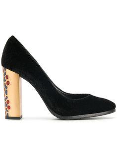 туфли-лодочки на каблуке с отделкой  Baldinini