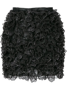 мини-юбка с оборкой  Christopher Kane