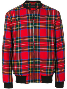 куртка-бомбер в шотландскую клетку Christopher Kane