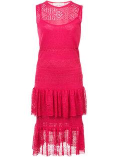 платье без рукавов с декоративной строчкой Pointella Carolina Herrera