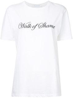 футболка с принтом логотипа Walk Of Shame
