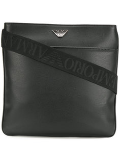 сумка-почтальонка с логотипом Emporio Armani
