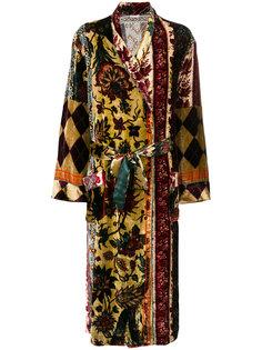 длинное пальто с принтом Pierre-Louis Mascia