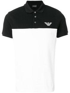 рубашка-поло с контрастной панелью Emporio Armani