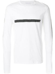 футболка с принтом мазка кисти Neil Barrett