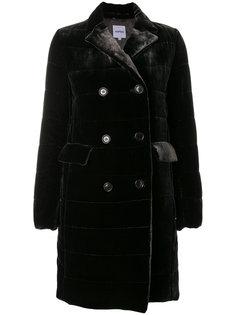бархатное двубортное пальто  Aspesi