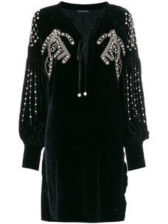 платье с блестками и искусственным жемчугом Wandering