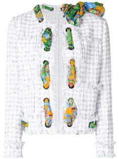 твидовый пиджак с шарфом  MSGM