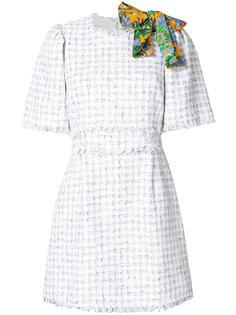 твидовое платье с бантом  MSGM