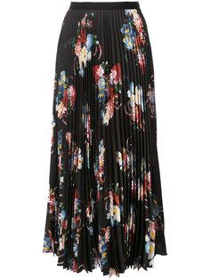 длинная юбка с цветочным принтом Erdem