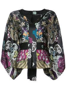 kimono sleeve belted top Natori