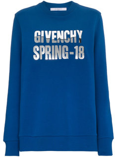 свитер с логотипом металлик  Givenchy