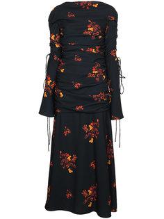 приталенное платье с цветочным принтом  Ellery