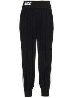 спортивные брюки с полосками с логотипом Fendi
