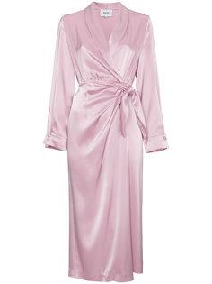 платье с запахом Ezra Nanushka