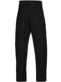 укороченные брюки с вышивкой Ann Demeulemeester