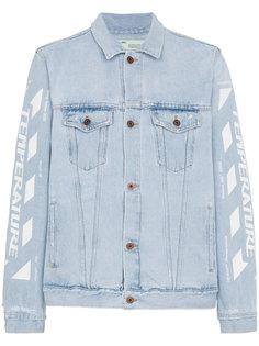 выбеленная джинсовая куртка  Off-White