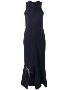 платье слим со вставками  Victoria Beckham