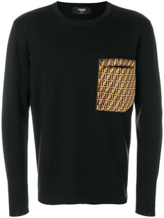FF Logo Patch Sweatshirt Fendi