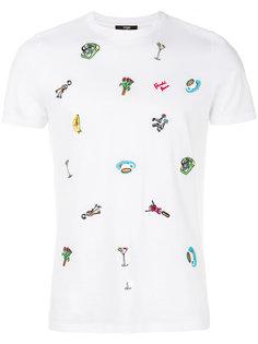 футболка с вышивкой Fendi