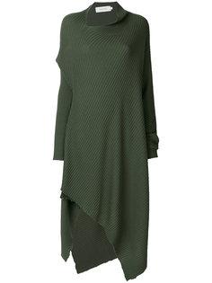 асимметричное платье с ребристой фактурой Marquesalmeida