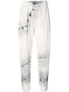 укороченные брюки с принтом тай-дай Raquel Allegra