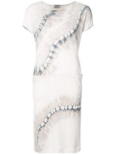 платье с принтом тай-дай Raquel Allegra