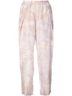 укороченные брюки со складками Raquel Allegra