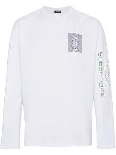 футболка с длинными рукавами Unknown Pleasures Raf Simons