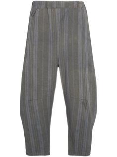 полосатые брюки с эластичным поясом By Walid