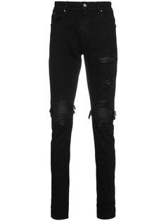 джинсы скинни с кожаными вставками MX1 Amiri