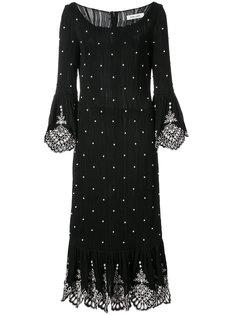 декорированное платье миди Prabal Gurung