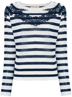 полосатый свитер с кружевной отделкой Vanessa Bruno