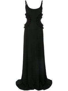 платье с пайетками с прорезями Nina Ricci