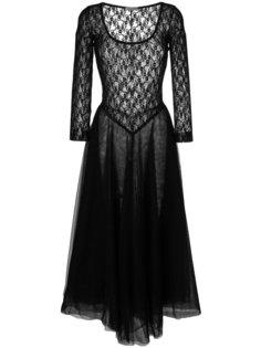 кружевное платье с пышной юбкой Nina Ricci