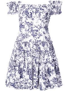 платье с цветочным принтом Caroline Constas