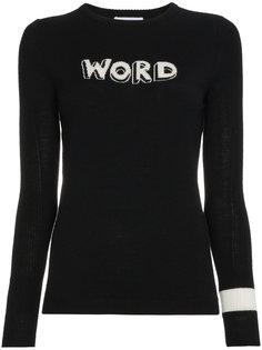word intarsia wool sweater Bella Freud