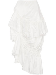юбка-миди с рюшами Simone Rocha
