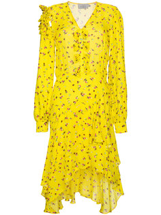 асимметричное платье с цветочным принтом Margo Preen By Thornton Bregazzi