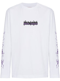 Dance Death print long sleeve top Palm Angels